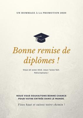 Affiche de remise des diplômes