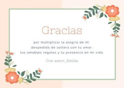 Tarjeta de agradecimiento