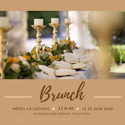 Invitation pour un brunch
