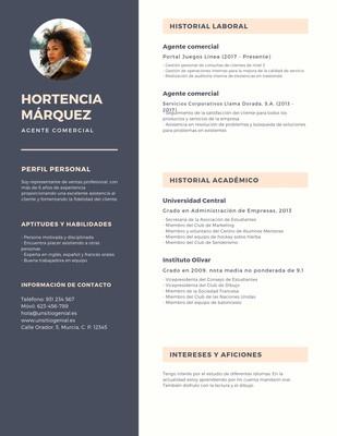Currículum con foto