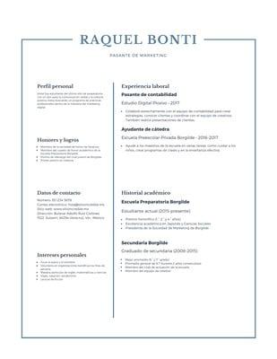 Currículum de preparatoria