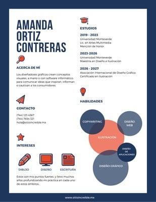 Currículum con infografía
