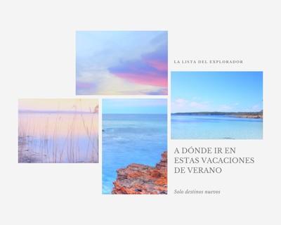 Collage de fotos de viaje