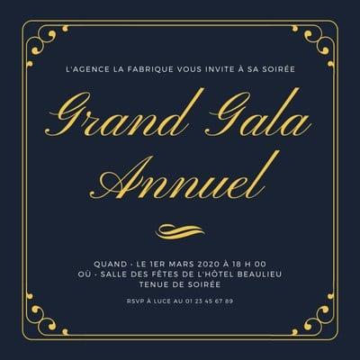 Invitation de gala