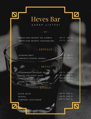 Bar Menüsü