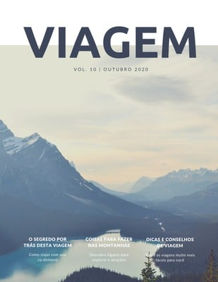 Capa de revista de turismo
