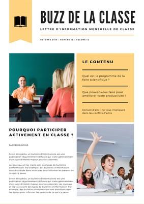 Newsletter d'école