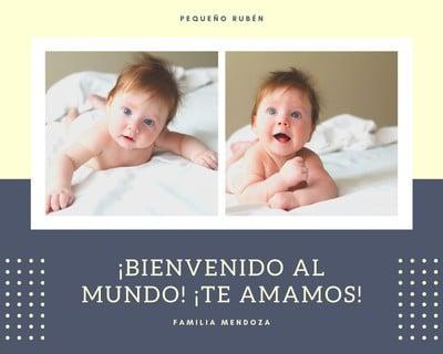 Collage de fotos de bebé