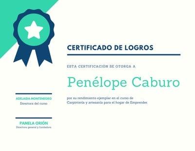 Certificado de premio