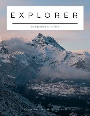 Couverture de magazine de voyage