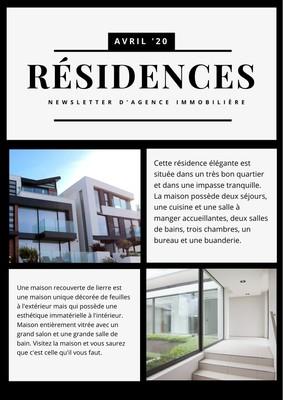 Newsletter d'agence immobilière