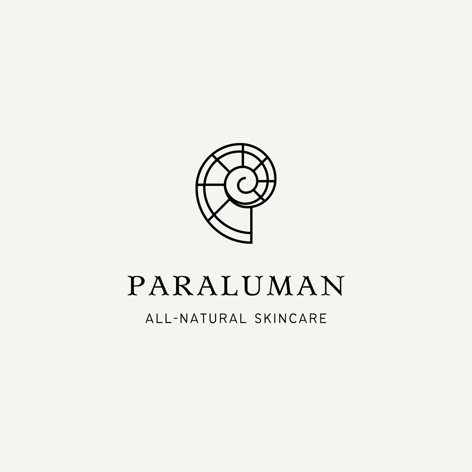 Cream and Black Paraluman Skincare Logo