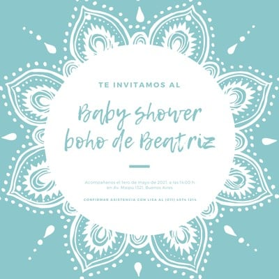 Invitación para baby shower