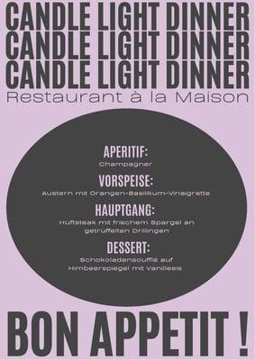 Dessertkarte