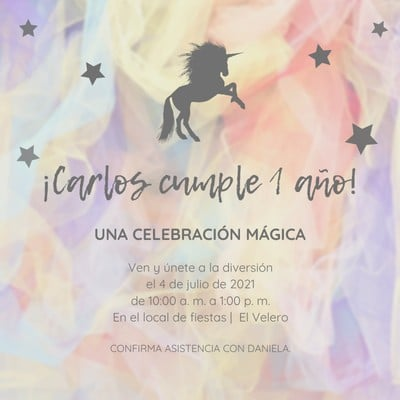 Invitación para cumpleaños