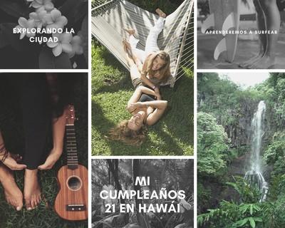 Collage con fotos de viaje