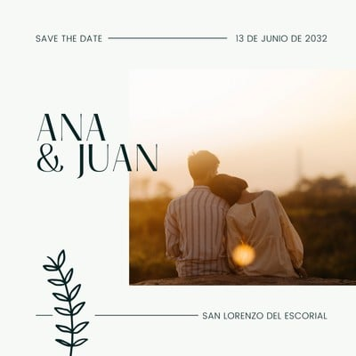 Invitación Save the Date